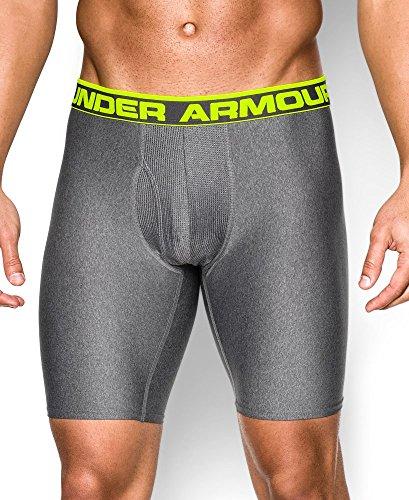 "Under Armour Men's Original Series 9"" Boxerjock, Carbon Heather , 3X-Large"