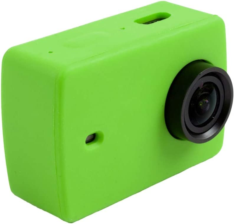 Accesorios cámara DMXYY For - Xiaomi Xiaoyi Yi II Acción de la cámara del Deporte de Silicona Vivienda Cubierta Protectora del Caso de Shell (Negro)