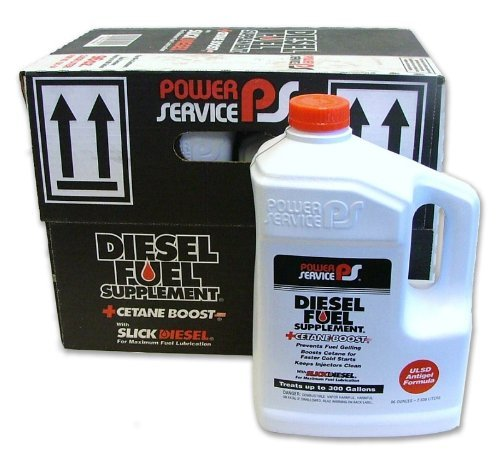 Power Service Diesel Fuel Supplement + Cetane Boost 80oz., Case of 6 Treats 250 gallons diesel fuel per Bottle