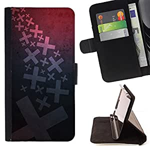 DEVIL CASE - FOR Sony Xperia Z1 L39 - X Wallpaper Art Letters Cross Map Symbol - Style PU Leather Case Wallet Flip Stand Flap Closure Cover