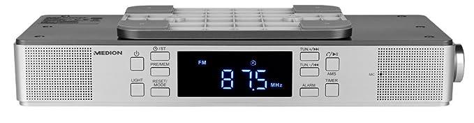 MEDION E66550 Küchen Unterbauradio mit Bluetooth-Funktion (PLL UKW Radio, Freisprechfunktion, 2 x 2,7 W RMS, Timerfunktion, L