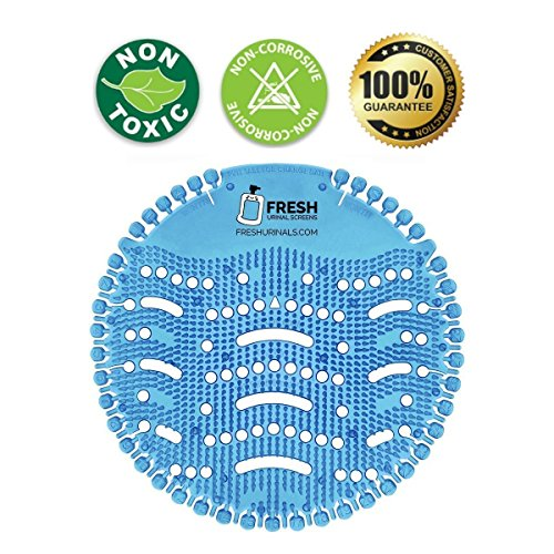 Urinal Screen Deodorizer (10 PACK) - Scent Lasts for Up to 5000 Flushes – Anti-Splash & Odor Neutralizer – Ideal for Bathrooms, Restrooms, Office, Restaurants, Schools – Ocean Mist Fragrance by Fresh Urinal Screens (Image #2)