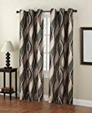 S. Lichtenberg 48 by 84-Inch Intersect Curtain Panel, Spruce Review