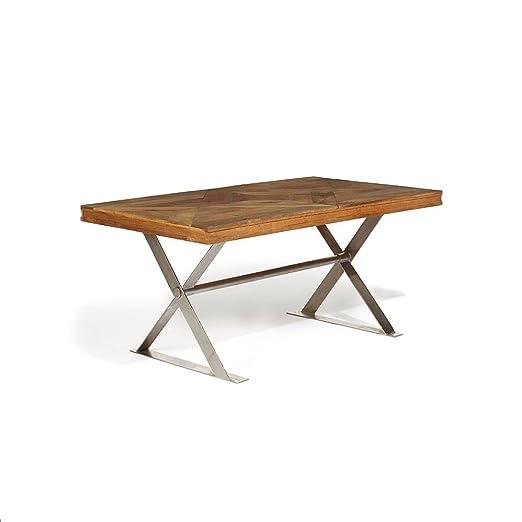 lombok Artisan X Leg - Mesa de Comedor (160 x 90 x 76 cm, Madera ...