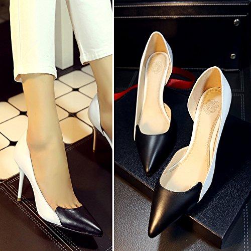 HOESCZS Herbst Single Schuhe Damenschuhe High Chengdu Heel Damenschuhe Chengdu High Damenschuhe Farblich Passende Lederschuhe c7d7bf