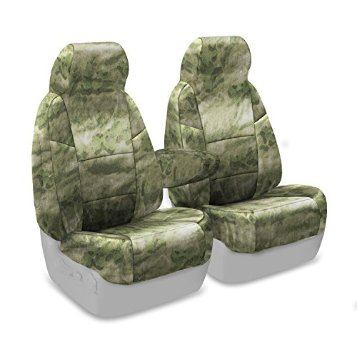 Coverking Custom Fit Front 50/50 Bucket Seat Cover for Select Ford Bronco Models - Cordura/Ballistic A-TACS Camo (Foliage/Green) (91 Ford Bronco Camo Bucket Seats compare prices)