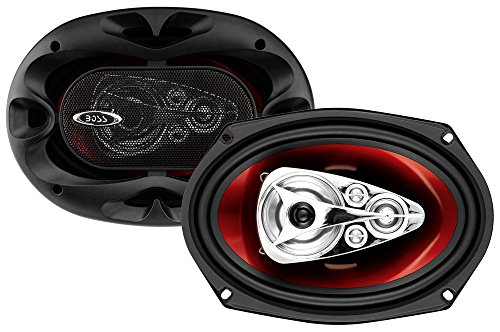 BOSS Audio CH6950 Car Speakers - 600 Watts of Power Per Pair and 300 Watts Each, 6 x 9 Inch, Full Range, 5 Way, Sold in Pairs, Easy Mounting