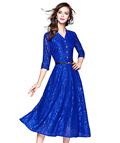 Womens Royalblue Sleeves Floral Sundress product image