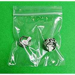 """4x4 Zip lock Bags 2-Compartment Clear With Center Split Divider Middle 4"""" 100 Pcs (5E) NOVELTOOLS"""