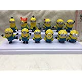 Bossel Cute Mini 12pcs Set of Despicable Me 2 Minions Movie Character Figures Doll Toy