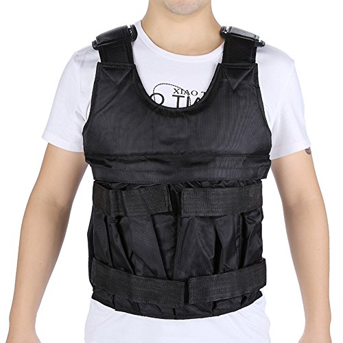 Adjustable Weight Vest 44lbs/110lbs Workout Weighted Vest Comfortable Exercise Training Fitness