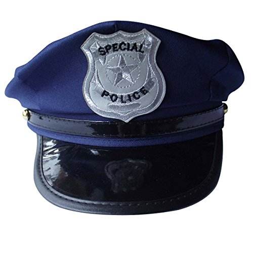 TianS Party Accessory Unisex Adults Police Hat (1PCS)