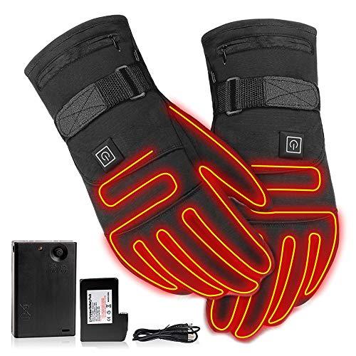 3.7V draagbare verwarming thermische handschoenen, oplaadbare elektrische batterij verwarmde handschoenen voor mannen…
