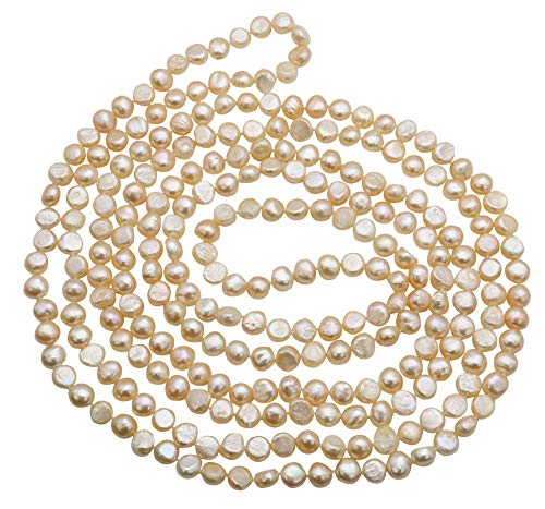 Freshwater Cultured Nugget Pearl Necklace Jewelry for Women