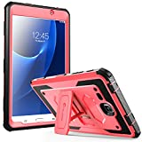 Galaxy Tab A 7.0 Case, [Heavy Duty] i-Blason Samsung Galaxy Tab A 7 2016 Armorbox [Dual Layer] Hybrid Full-body Protective Kickstand Case with Front Cover and Built-in Screen Protector (Pink)
