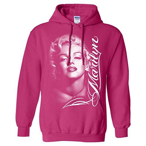 marilyn monroe portrait signature sweatshirt hoodie heliconi