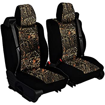 CarsCover Custom Fit 2004 2008 Ford F150 Pickup Truck Wetsuit Neoprene Car Front Seat Covers Camo And Black Sides Driver Passenger Cover Real Maple Forest