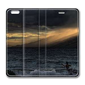 iPhone 6 Leather Case, Personalized Protective Flip Case Cover Fire On The Mountain for New iPhone 6