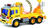 Friction Powered Toy Cement Mixer Truck With Lights & Sound TG640-C – Push & Go Friction Truck Toy For Boys & Girls Aged 3+ By ThinkGizmos (Trademark Protected)