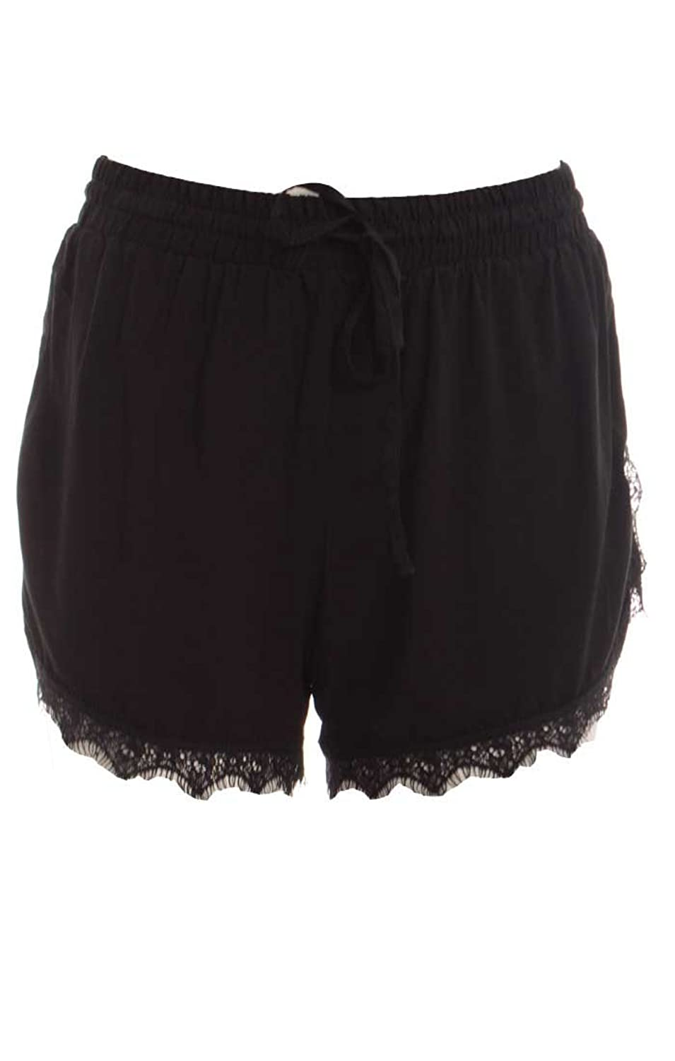 Material Girl Junior's Eyelash Lace Trim Shorts