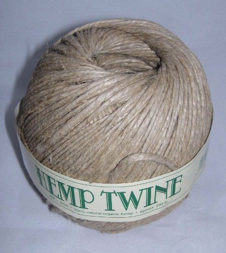 - 2mm 48# Hemp Twine Cording 100% Natural Organic - 48# 2mm approx. 292ft
