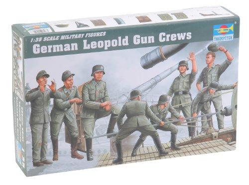 Trumpeter German Leopold Railway Gun Crew Figure Set, Scale 1/35, 8-Pack