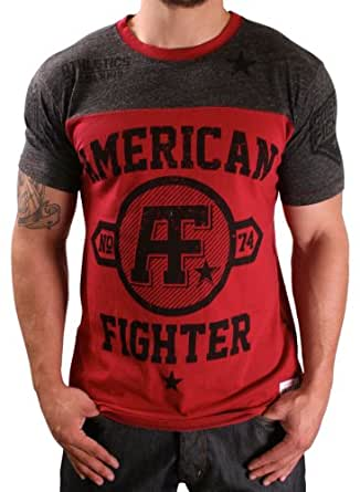 American Fighter Vanguard Cont Panel Crew T-Shirt Tee Red Size XL