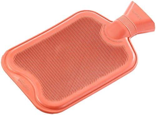 PEARL Bettflaschen: XL-Wärmflasche rot, 2 Liter (Kinder-Wärme-Flasche)
