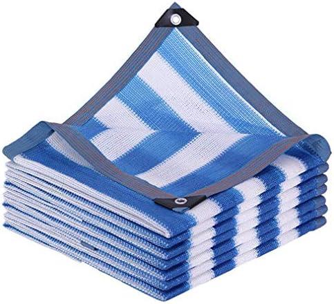 HUYYA 85%日焼け止め シェード 布 ネット、シェーディングネット ミシン目付き 遮光日よけネット 強化エッジ オーニングシェード 角補強 テラス用,Stripe_4x6m/12x18ft