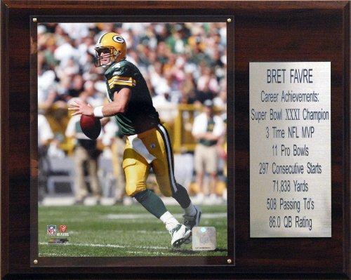 - NFL Brett Favre Green Bay Packers Career Stat Plaque