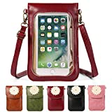 Women's Flower PU Leather Touch Screen Wallet Purse Crossbody Shoulder Bag for Apple iPhone X / 7 8 Plus / HTC 10 / One A9s / Huawei Nova 2 Plus / Honor 9 / P10 / P10 Plus / Nokia 5 6 8 (Red)