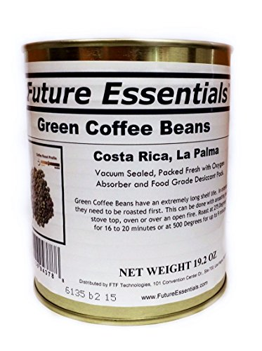 Single Can of Green Coffee Beans, Costa Rican La Palma