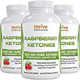 Thrive Naturals Raspberry Ketones – Thermogenic Weight Loss Support – Extra Strength 1200 mg Daily Dose – 60 Capsules (3 Pack) Review