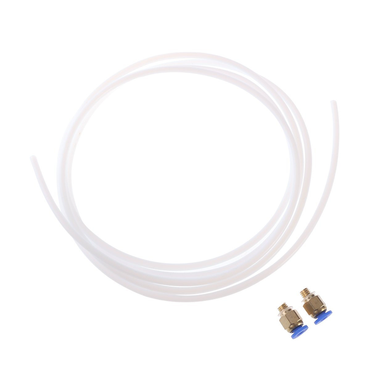 UEETEK 2 Meters PTFE Teflon Tube and 2 Pieces Connectors for RepRap Rostock Kossel 3D Printer Bowden Hotend 1.75mm