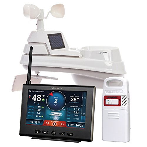 AcuRite 01024M Pro Weather Station with Hd Display, Lightning Detector, Rain, Wind, Temperature & Humidity