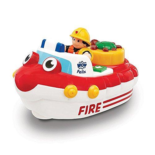 WOW Fireboat Felix - Bath Toys (2 Piece (Fireboat Games)