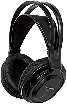 Panasonic RP-WF830E-K - Auriculares Inalámbricos Diadema (Adecuado para Personas Mayores, Hi-Fi Sonido, Base Recargable, Aislante de Ruido, Cascos Diadema Premium TV) Negro