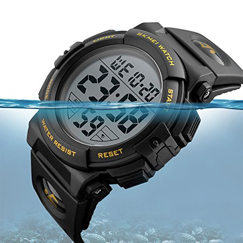 EOBP multi-function Sport watch 50M waterproof LED back light electronic watch student climbing wrist watch SKEMEI Men's digital watch Mens Round Sports Watch