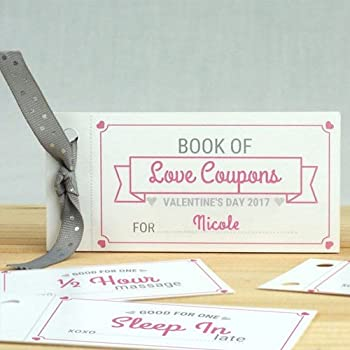 amazon com giftsforyounow personalized love coupon book for her