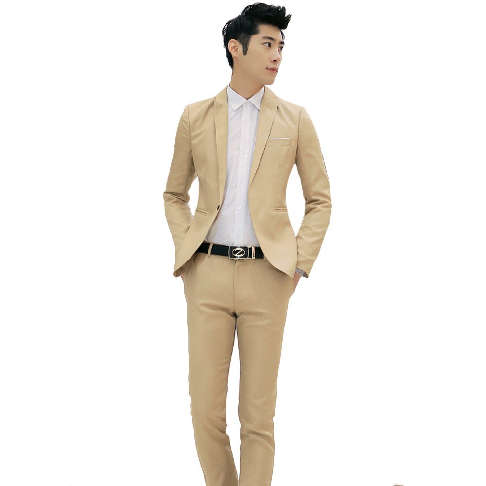 DORIC Mens 2017 Business and Leisure Suit A Two-Piece Suit The Groom's Best Man Wedding XXX-Large