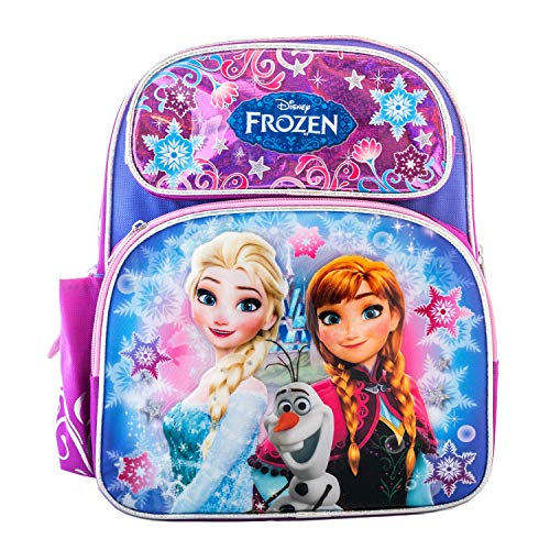 "Disney Frozen 12"" Toddler School Backpack - Elsa, Anna, Olaf"