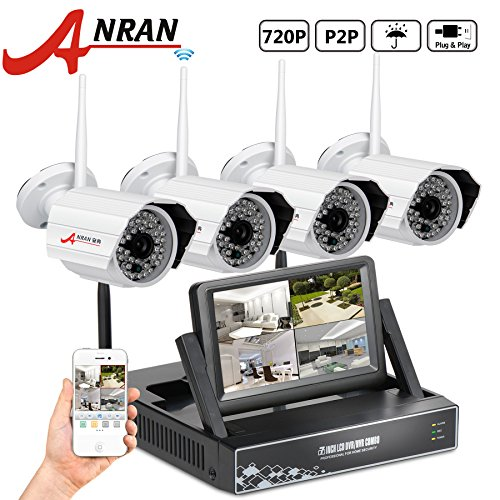 ANRAN 4 Channel 720P Wireless NVR with 7