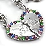 Best Friends Forever Heart Teen Teenager Women Engraved Keychain Key Ring Charm