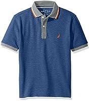 Nautica Boys' Short Sleeve Polo with Tip...