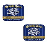 Memory Mints for Senior Moments Fun Gag Tin, Pack of 2