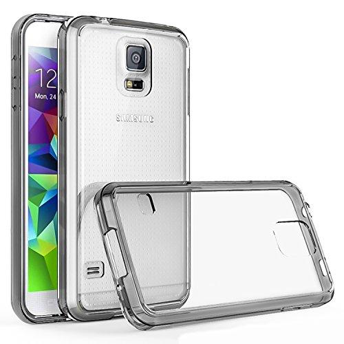 Supad™ Galaxy S5 Hülle, Galaxy S5 Handyhülle, Slim Fit TPU Bumper Case Transparent Rückschale Schutzhülle für Samsung Galaxy S5 / S5 Neo -Crystal Schwarz