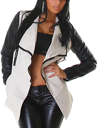 Cappotto Opaco white Smooth Creme Lunghe Maniche Giacca Basic Off Donna Voyells fwqZUSa