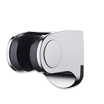 Shower Head Handset Holder Chrome Bathroom Wall Mount Suction Bracket Adjustable