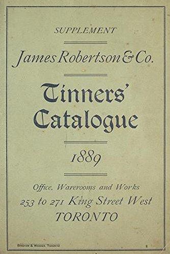 Tin Ware and Tinners' Supplies (1889): Tinners' (Kitchenware Tin)