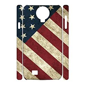 DIY 3D SamSung Galaxy S4 I9500 Case, Usa Vintage Flags quote Customized Phone Case